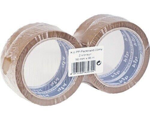 Kip tape 839-72 CINTA ADHESIVA EMBALAR MARRÓN 2 rollos por cada 50 mm x 66 M