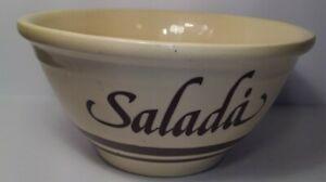 McCOY Pottery Salada Salad Bowl Rustic Italian Country Made USA Ovenware