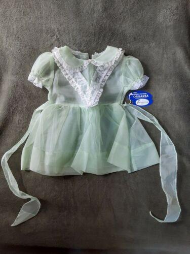 Vintage Green Organza Sheer Baby Dress