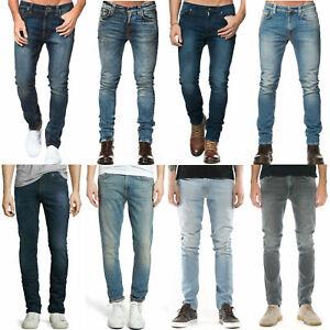Nudie-Herren-Slim-Tapered-Fit-Jeans-Hose-Lean-Dean-Kleine-Fehler-NEU