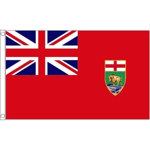 Flag 100/% Polyester With Eyelets Manitoba Flag 5 x 3 FT
