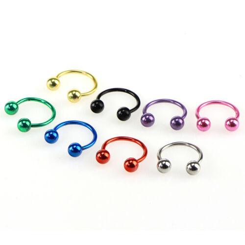 Body Piercing Jewelry Surgical Steel Horseshoe Bar-Lip Nose Septum Ear Ring XE