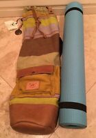 Will Leather Goods Boho Yoga Mat Bag Mexican Canvas Adjustable Strap Oregon