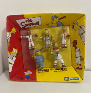 Homer-At-The-Bat-Playmates-The-Simpson-s-Playset-5-Figures-Lenny-Carl-Burns