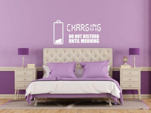 Transfer /'Charging Decal Self Adhesive Do Not Disturb.../' Wall Art Sticker