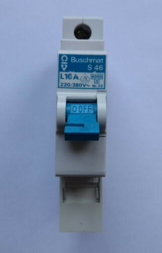 safety dispenser Line circuit breaker 1-pol Buschmat S46 4xL16A,1xB6