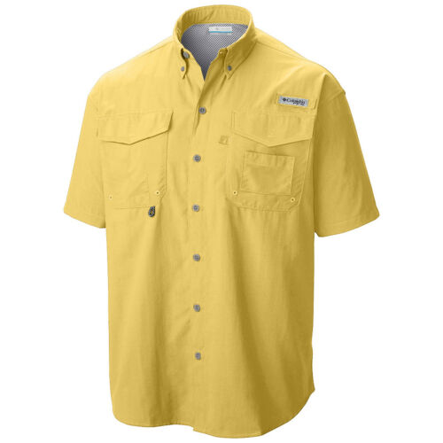 "New Mens Columbia PFG /""Bahama II/"" Omni-Shade Vented Short Sleeve Fishing Shirt"