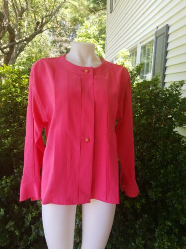 Chanel Vintage Silky Blouse Fuchsia Pink Colored b