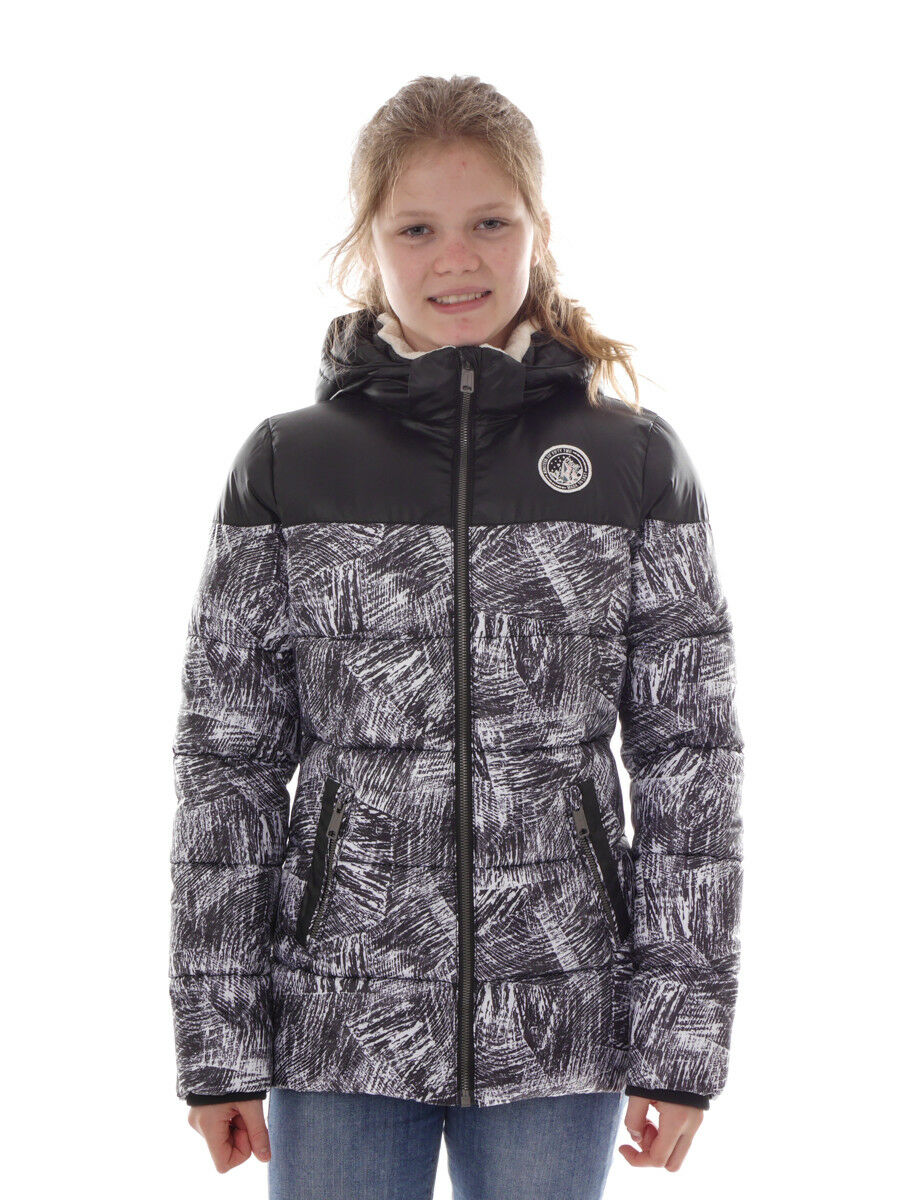 O 'Neill Funzione Outdoor Giacca QUILTED NERO PATTERN Hyperdry