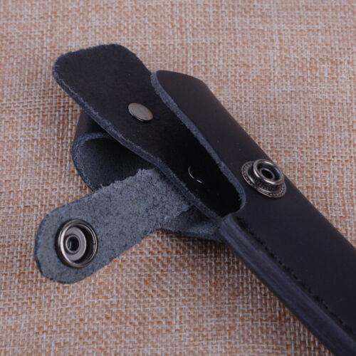 Neu Schwarz Leder Messer Tasche Halter Gerade Fest Klinge scheide Perfekt Ato