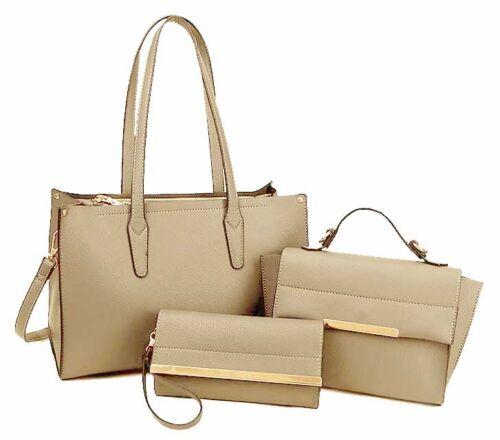 de peque cruzada bolsa alas monedero Plain mano de o Tote bolso cartera cuerpo Taupe embrague con qA4fRSn