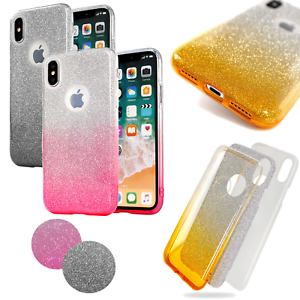 Motorola-Moto-G7-Plus-Handy-Huelle-Bling-TPU-Ombre-Back-Case-Brokat-Tasche-Cover