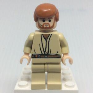 LEGO-Star-Wars-sw0162-Obi-Wan-Kenobi-Minifigure-w-Headset-from-7661