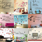 Flowers Removable Wall Stickers Decal Art Vinyl Quotes Mural Home Room Decor DIY