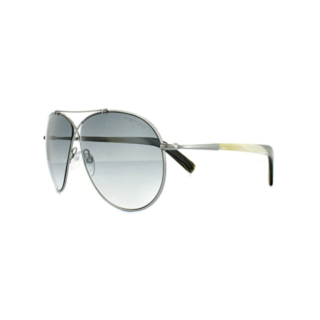 c5693993bc5 Tom Ford Sunglasses 0374 Eva 15B Ruthenium Horn Grey Gradient