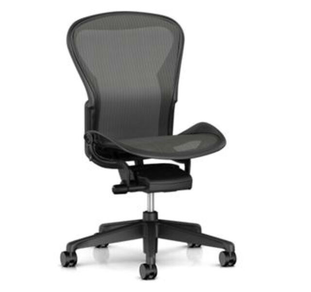 official photos e5b0e 9401e Herman Miller Aeron Basic Ergonomic Home Office Desk Task Chair Size B No  Arms