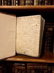 1688-1750-PARCHMENT-MANUSCRIPTS-BOOK-Compendium-of-Antique-Documents