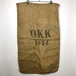 1924 Burlap Swiss Grain Feed Sack Bag