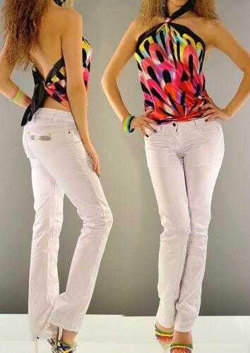 36 32 Sexy Glamour 38 Satin Miss Shine Pants Bianco Ladies 34 Hip Novità Paillettes 40 HzxZwrHPq