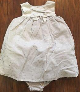 c40ba1624 Gymboree Polar Princess Baby Girl 6-12m Silver Stars Dress ...