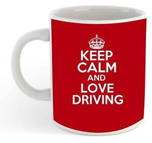 Keep-Calm-And-Love-Driving-Mug-Red
