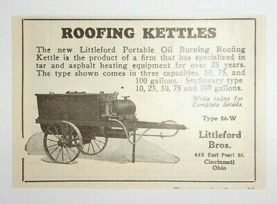 1925 Roofing Kettles Advertisement Littleford Bros