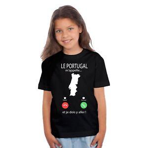 HonnêTeté T-shirt Enfant Fille Le Portugal M'appelle... êTre Nouveau Dans La Conception