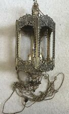 """68.5/"""" Sculptural Filigree Frosted Glass Medieval Gothic Lantern Floor Lamp"""