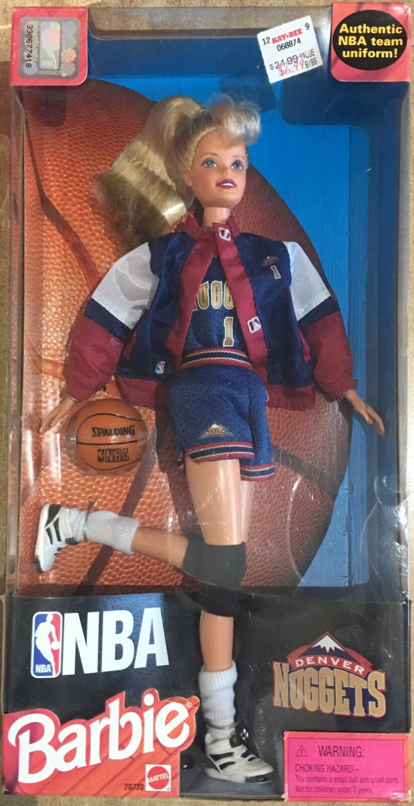 Barbie Mattel NBA Uniform Authentic Original Uniform NBA SCEGLI b7e11f