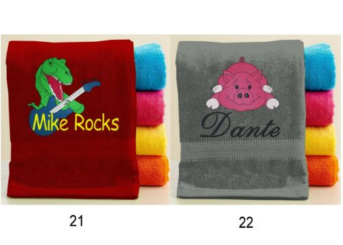 custom Animal towels Personalized Animal Towel with FREE Custom Embroidery