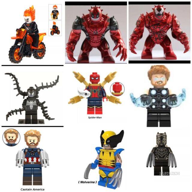Marvel Super Hero Lego + Custom Minifigures mini figure Avengers Spiderman X-Men