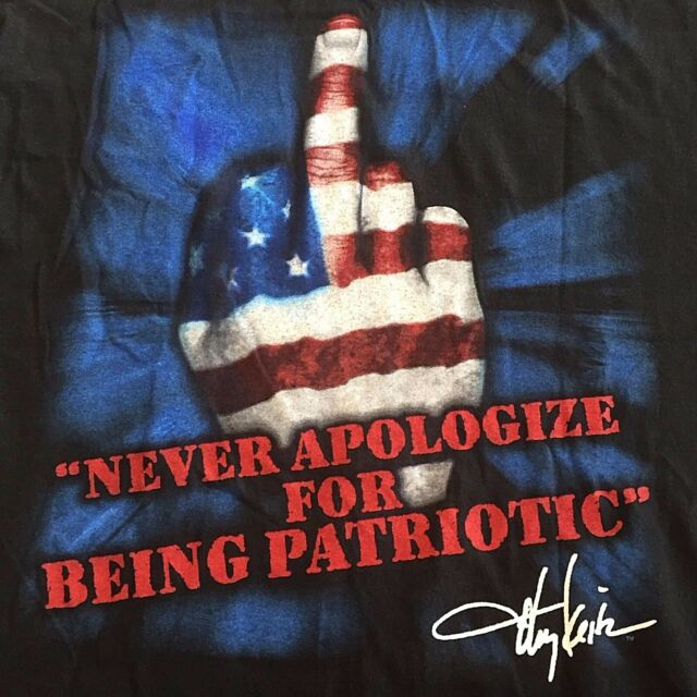 Sz L Toby Keith Tshirt Never Apologize For Patriotic Country Music American Flag
