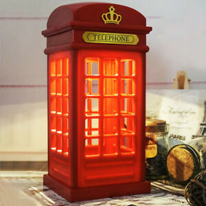 Retro-Telephone-Booth-Light-USB-Rechargeable-Red-Table-Phonebox-LED-Lamp-London