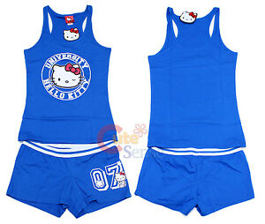 Strong-Willed Hello Kitty University Vêtements De Nuit Débardeur Et Pantalon Jeu De Pj Other Women's Clothing