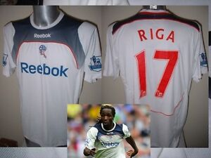 Bolton-Wanderers-RIGA-Match-Shirt-Jersey-Football-Soccer-Adult-Large-Reebok-Worn