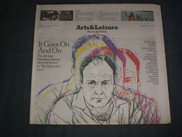 2019 JAN 13 NEW YORK TIMES ARTS & LEISURE SECTION - THE ...