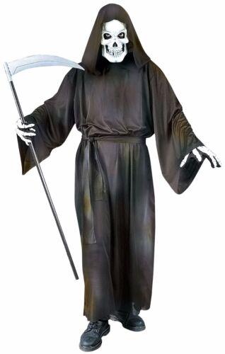 Adulto Uomo 4 PC Tristo Mietitore Maschera Guanti Halloween Costume Vestito