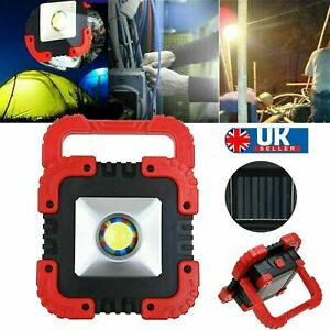 100W Solar LED Light Rechargeable Car Outdoor Camping Tent Work Torches USB Lamp