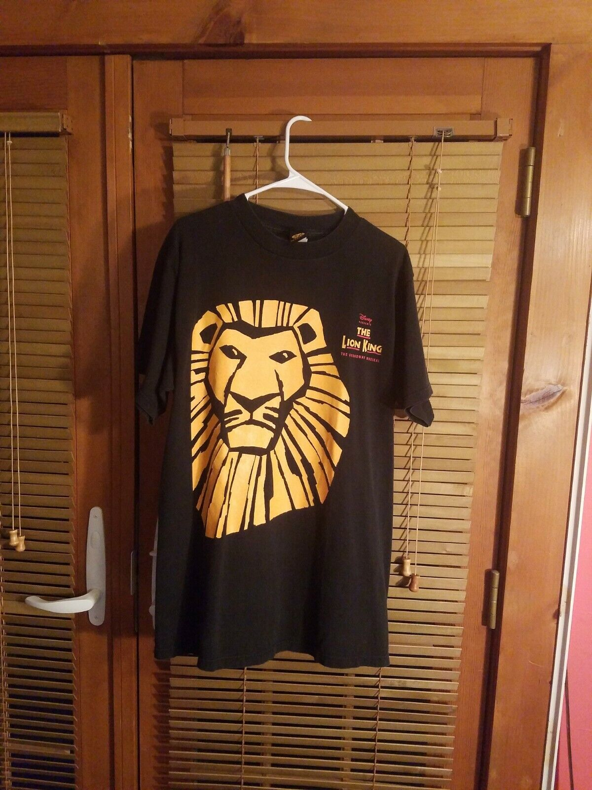 THE LION KING Disney Musical Vintage T-Shirt 90s made in usa big head promo L XL