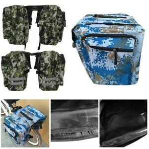 2 in 1 Bicycle Trunk Bags Cycling Double Side Rear Rack Pannier Luggage Car Bag