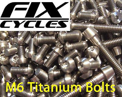 Titanio Ti M6 x 35 mm Taper Bullone Con Testa Vite brugola Chiave LUCE