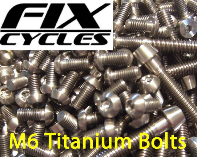 M6 Titanium Bolts Ti Taper Head Super Light Various Lengths Allen Key Socket