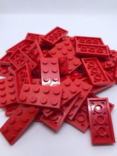 2X4 LEGO 25 PIECES 2 X 4 PLATES FLATS PARTS BULK LOT RED