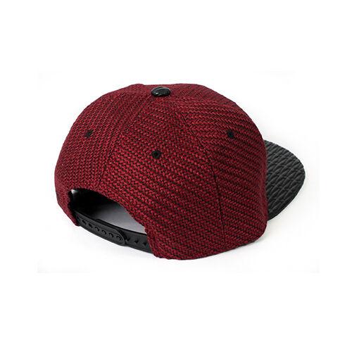 TopCul Exclusive West Coast Woven SnapBack Cap Hat Black /& Maroon dark red New