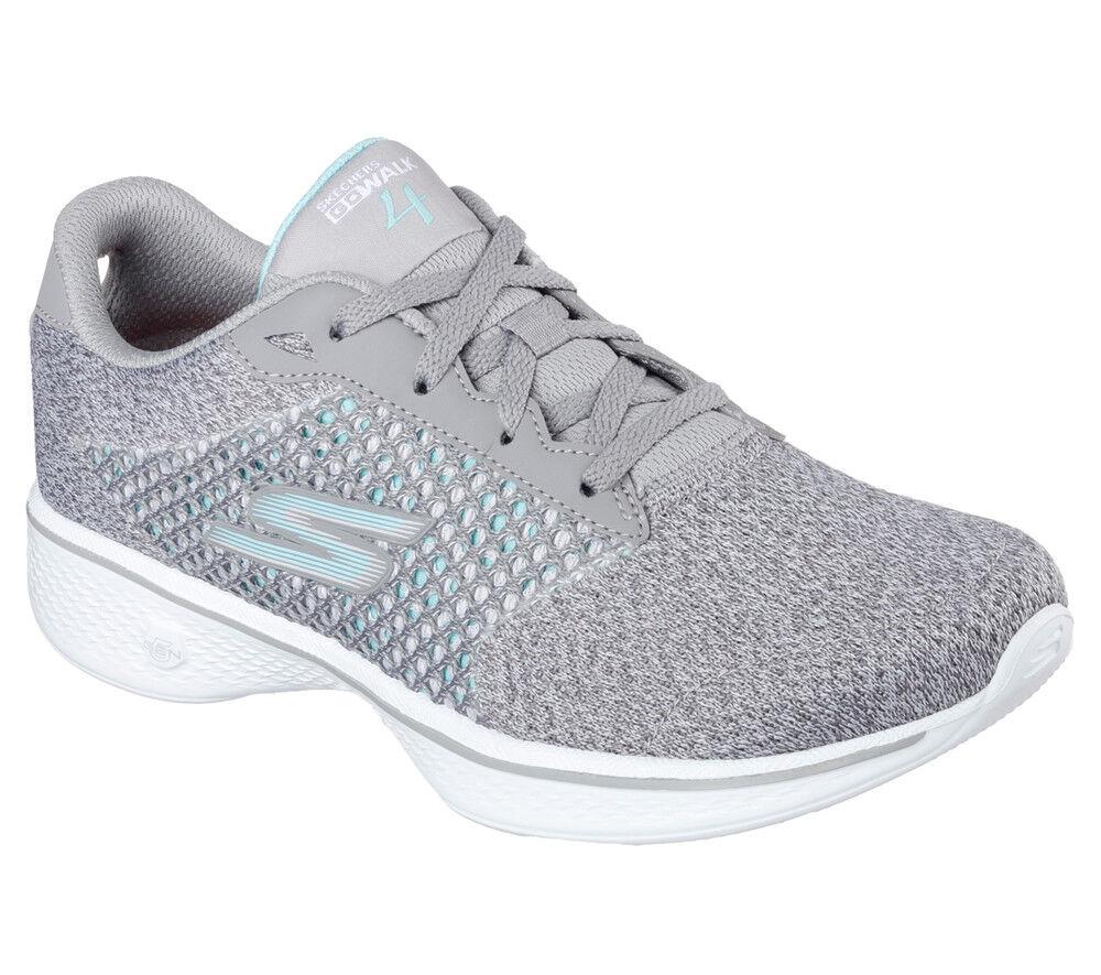 NUOVO Skechers Fitness da donna scarpe da ginnastica Turn Scarpa Scarpa Scarpa Walking Go Walk 4-EXCEED Grigio f6ca10