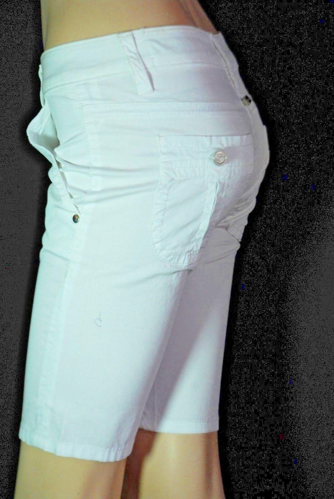 X Stone Bermudas Hose trousers white weiß SHORTS W26 XS 34 36 neu