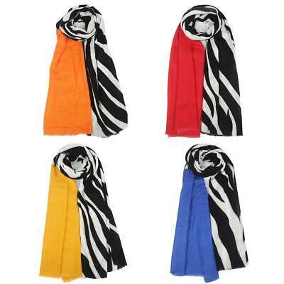 New Ladies Zebra Animal Print Warm Cashmere Winter Scarf Shawl Wrap