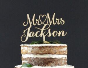 Personalized-Mr-amp-Mrs-Wooden-Wedding-Cake-Topper-Decoration-Keepsake