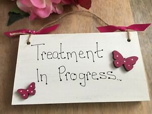 Personalised-Wooden-Beauty-Salon-039-Treatment-in-Progress-039-hanging-butterfly-sign