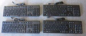 Joblots-4-x-DELL-DJ491-KB212-B-filaire-QuietKey-USB-Multimedia-UK-Clavier-QWERTY